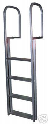 4 step aluminum pier ladder