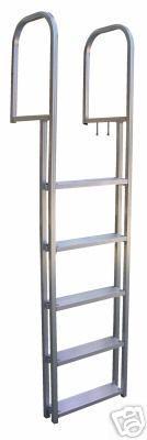 5 step aluminum pier ladder
