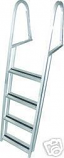 4 step aluminum pontoon ladder